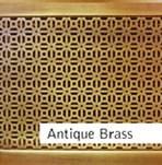 Antique Brass Finished Custom Metal Grille