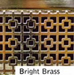 Bright Brass Finished Custom Metal Grille