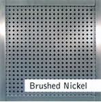 Brushed Nickel Finished Custom Metal Grille