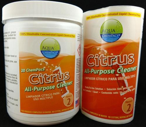 Aqua Chempacs Citrus All Purpose Cleaner