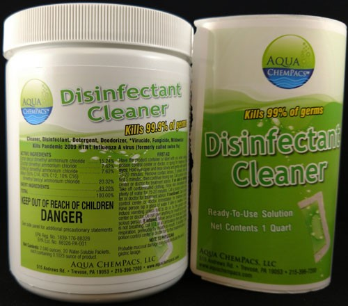 Disinfectant Cleaner EPA Registered By Aqua Chempacs