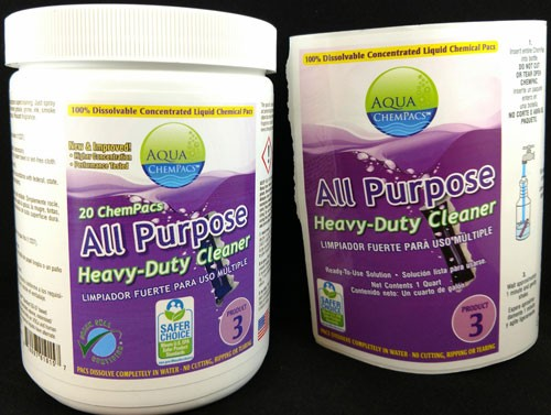 Aqua Chempacs All Purpose Heavy Duty Cleaner Concentrate