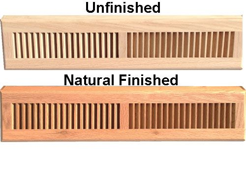 24 Inch Register Wood Baseboard Diffuser
