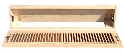 Unfinished Wood Baseboard Diffuser