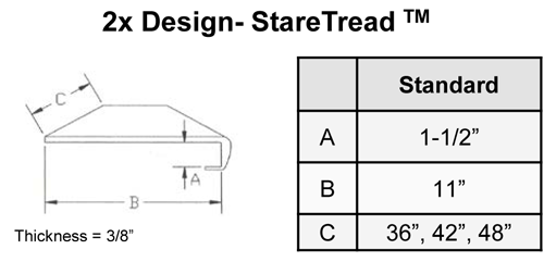 Larger Stair Tread - By StareCasing