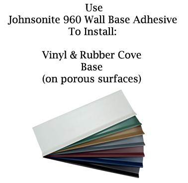 Johnsonite 960 Wall Base Adhesive - Porous Surfaces