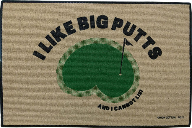 Golf Welcome Mat - I like big putts