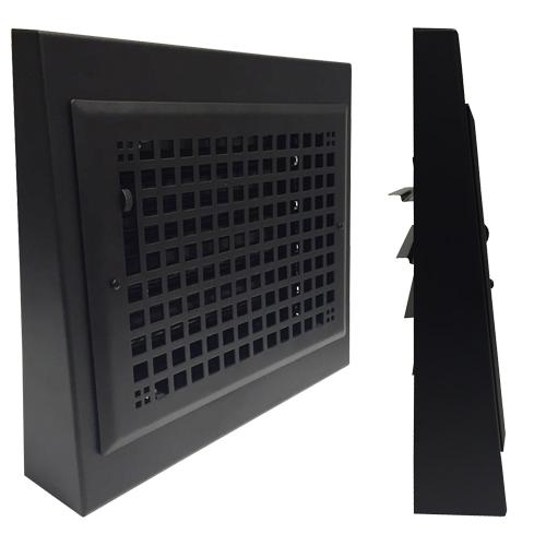 Grid Baseboard Register - Black Baseboard Register