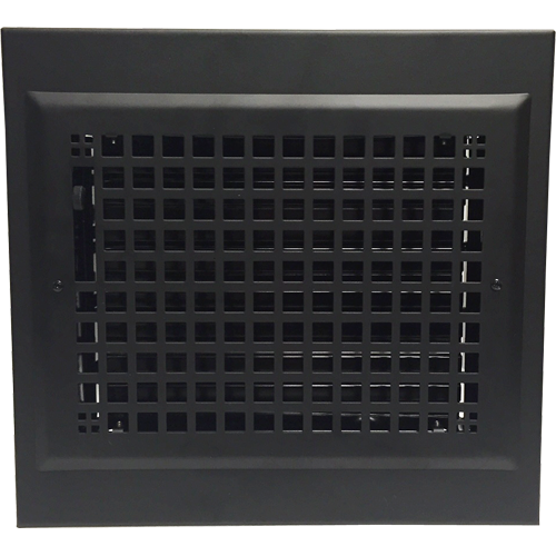 Black Baseboard Register - Decorative Baseboard Heat Cover