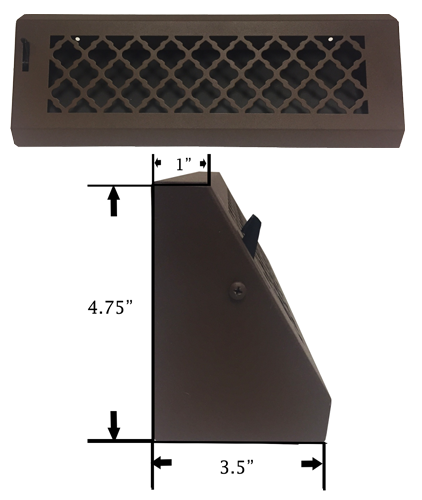 Baseboard Register Diffuser - Decorative Baseboard Vent