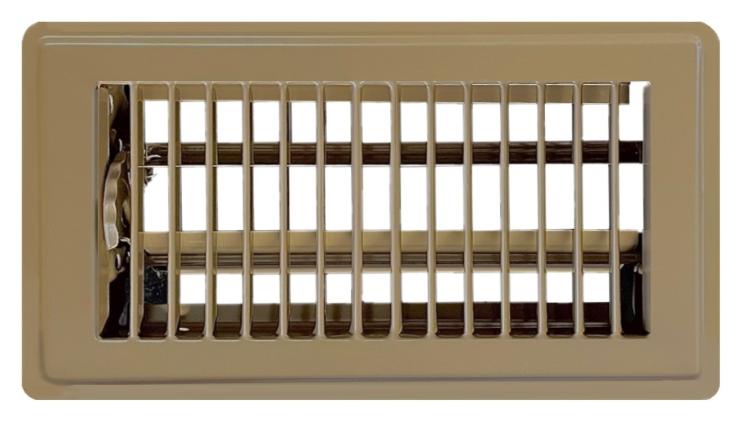 Classic Steel Register - Brown Open