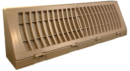 TruAire Plastic Baseboard in White or Brown