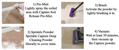Capture Dry Carpet Cleaning Instructions
