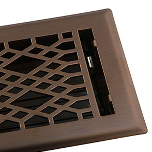 Cathedral Oil Rubbed Bronze Vent Cover Geometric Metal