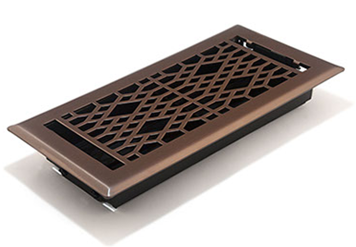 Cathedral Decorative Floor REgister - Oil Rubbed Bronze Vent Cover