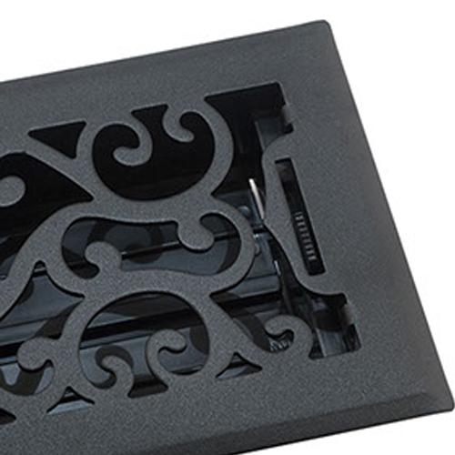 Accord Floor Vent - Black Charleston Floor Register