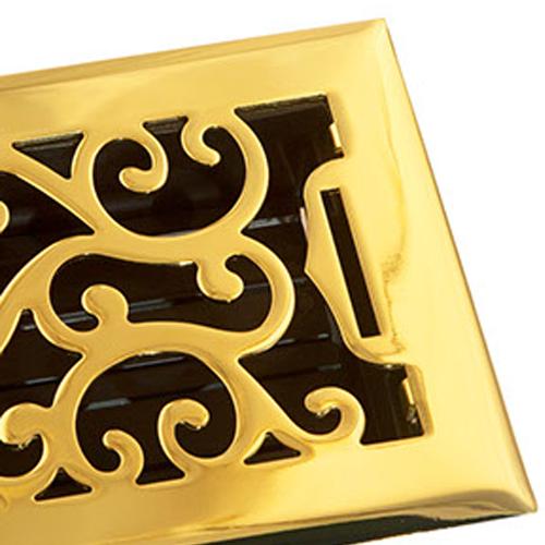 Brass Floor Vents by Accord Ventilation- Charleston Floor Register