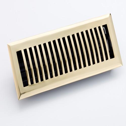Zoroufy Polished Brass Floor Register