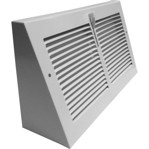 Continental White Triangular Baseboard Register