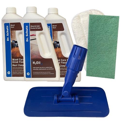 Dr Schutz Oiled Wood Floor Care Kit Contents