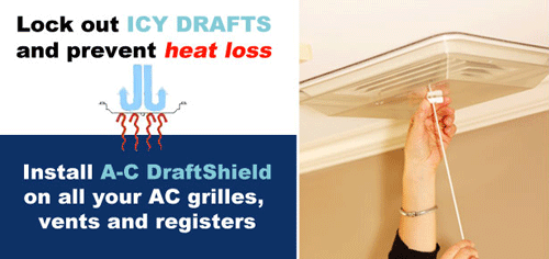 AC Draftshield Stop Drafts From Registers