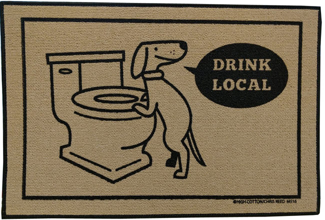 Funny Door Mat - Drink Local