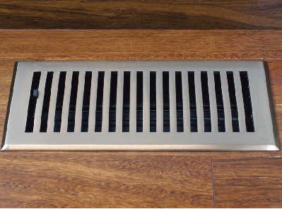 Satin Nickel Floor Register Air Vent Cover