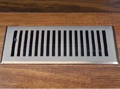 Satin Nickel Vent - Decorative Floor Register