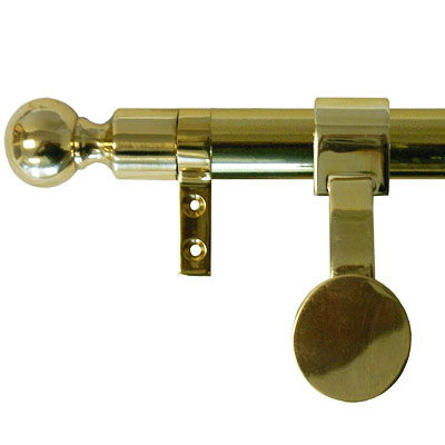 Zoroufy Grand Regency Wall Hanger Polished Brass w/ Ball Finial
