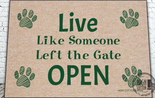 Humorous Pet Welcome Mat by High Cotton