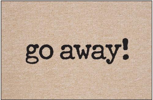Go Away! Humorous Welcome Mat
