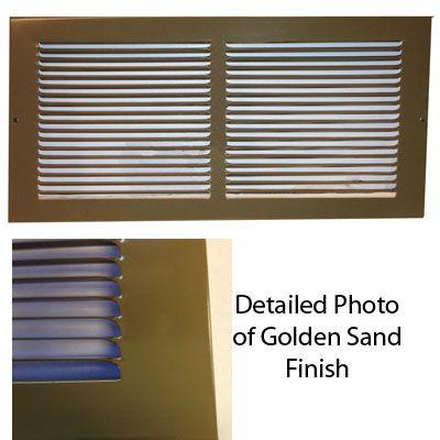 Baseboard Return Grille Golden Sand