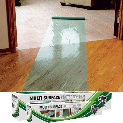 Hard Floor Covering Protection Film 24 inch x 200 foot