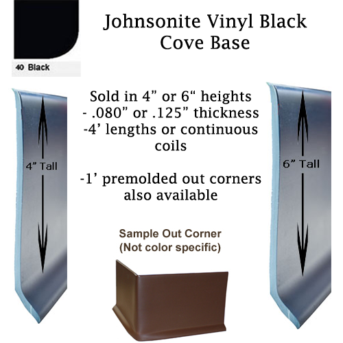 Johnsonite Black Cove Base