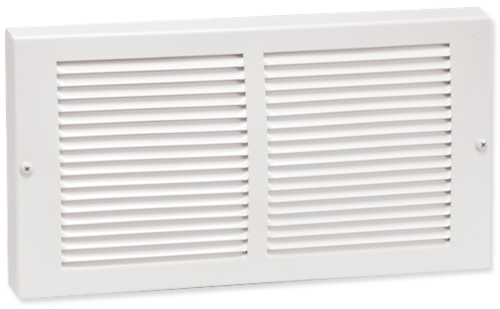 Smaller Faceplate Baseboard Return Grille - White Steel