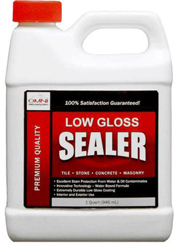 Omni Low Gloss Sealer - Tile, Concrete and Masonry Sealer for bricks