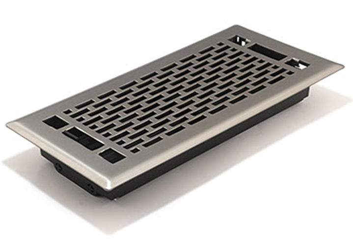 Satin Nickel Register by Accord - Manhattan Decorative Floor Vent