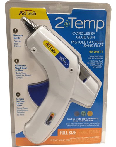 Large Glue Gun Cordless with Precision Nozzle