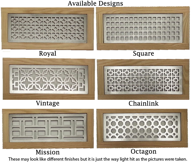 Metal Flush Mount Vent Decorative Floor Grates