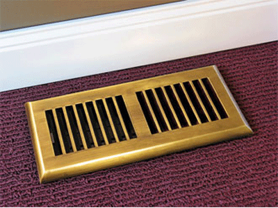 Plastic Registers In Antique Brass Finish