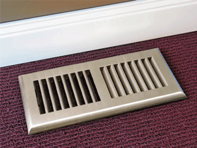 Decorative Plastic Floor Vent - Nickel