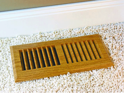 Plastic Oak Floor Register - Rust Proof Decorative Floor Register