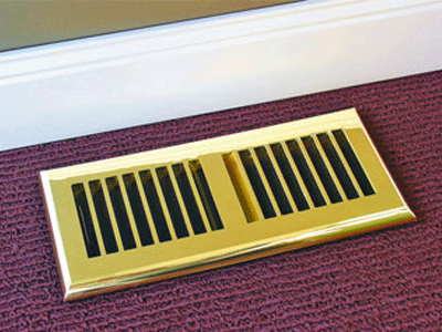 Polished Brass Plastic No Rust Floor Vent