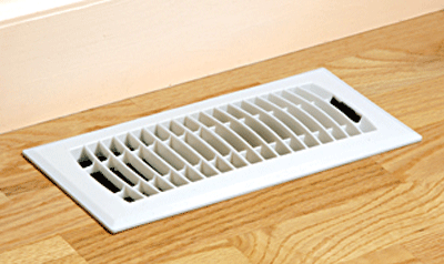 Plastic White Floor Register - Resin Floor Vent