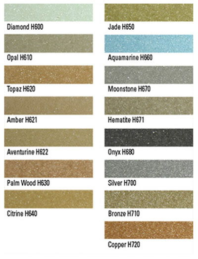 Star Glass Color Chart