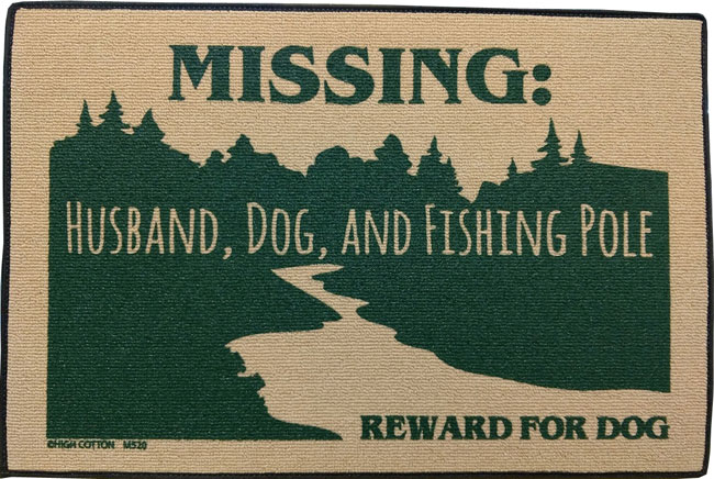 Doormat with Funny Saying.