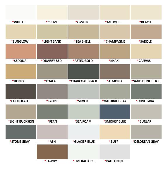 SKM Colored Caulk Chart