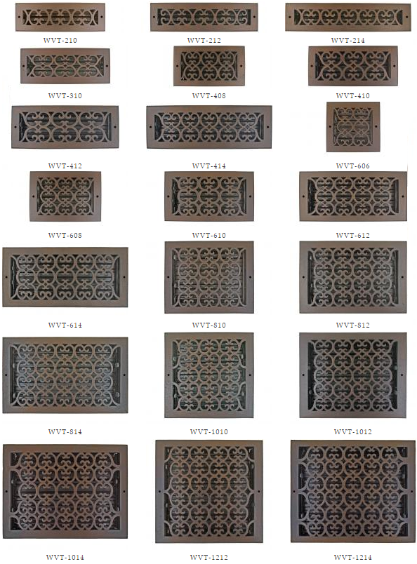 Bronze Wall Register Decorative Vent Covers