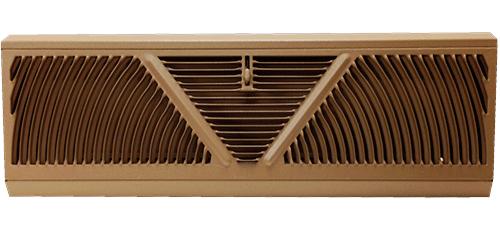 Tall Baseboard Register - Golden Sand Diffuser