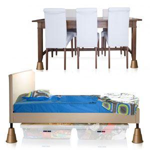 3 inch bed risers furniture raisers. Black Bedroom Furniture Sets. Home Design Ideas